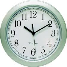 westclox 46984 8 1 2 inch simplicity round wall clock silver