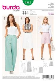 Culottes Pattern New BURDA YOUNG SEWING PATTERN LADIES Culottes Shortened Pants Wide Leg