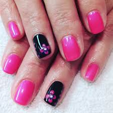 27+ Pink and Black Nail Art Designs, Ideas | Design Trends ...