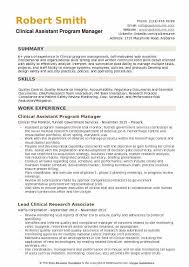 Program Manager Resume Cool Assistant Program Manager Resume Samples QwikResume