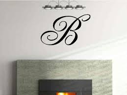 monogram single letter vinyl wall decal by vgwalldecals on