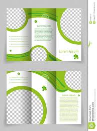 Green Brochure Template Vector Brochure Template Design With Green Element Stock Vector