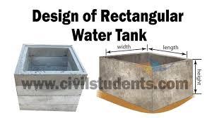 Concrete Cistern Tank Design Design Of Rectangular Water Tank