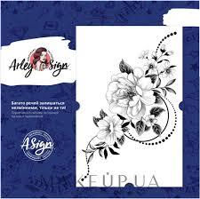 Makeup флеш тату переводные графические цветы 110x165 мм