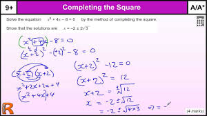 quadratic equation completing the square gcse maths revision exam paper practice help you