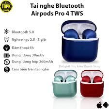 Tai nghe Bluetooth Pro 4 TWS Instruction Kim loại Không dây tiện lợi   Thời  gian chờ lên đến 40 giờ giá cạnh tranh