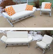 patio furniture glider sofa