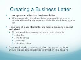 Ppt Creating A Business Letter With A Letterhead And Table