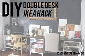 diy office desk ikea kitchen. DIY 12 Foot Long Double Desk Caitlin Wallace Rowland With Regard To Ikea Plans 16 Diy Office Kitchen