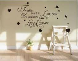 >twinkle twinkle little star wall art sticker quote decal kids  image is loading twinkle twinkle little star wall art sticker quote