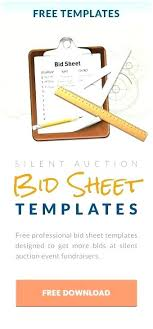 Silent Auction Templates Printable Bid Sheet Template Free Sample ...