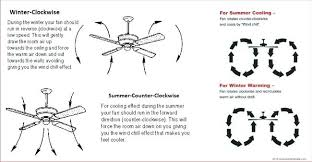 winter ceiling fan direction fan summer