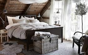 ikea black bedroom furniture.  Furniture IKEA Has Rustic Bedroom Furniture Like HEMNES Bed Frame In Blackbrown  Stained Solid Pine With Ikea Black Bedroom Furniture I