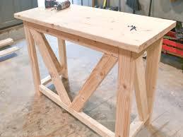 rustic bar table diy
