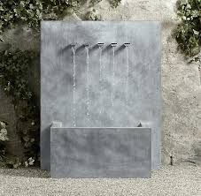 outdoor wall fountains modern mounted water for with lights outdoor wall fountains