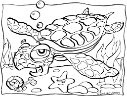 Small Picture Excellent Sea Turtle Coloring Page Cool Ideas 8656 Unknown