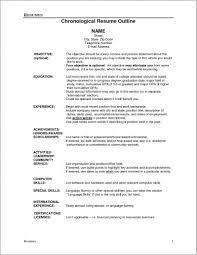 Outline Of A Job Resume Resume Resume Examples K8l1epklm6