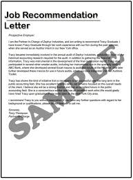 Writing A Recommendation Letter For An Employee Recommendation Letter Sample For Job Otto Codeemperor Com Writing