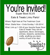 the freshman cook super bowl linky party super bowl linky party