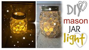 Diy Mason Jar Light Easy Craft Idea Youtube