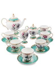 <b>Чайный</b> сервиз на <b>6 персон</b> Цветок Неаполя Pavone 1418735 в ...