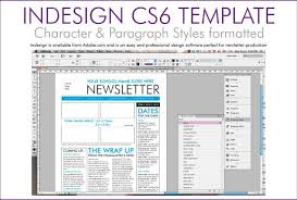 One Page Newsletter Templates 4 Page Newsletter Template Indesign Aiyfa