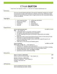 Cover Letter Sample Resume Marketing Sample Resume Marketing