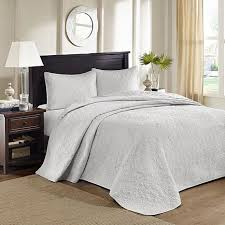 Madison Park Quebec King Quilted Bedspread Set - Gray - 8331221 | HSN & Madison Park Quebec King Quilted Bedspread Set - Gray Adamdwight.com