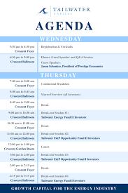 Annual Agenda 24 Tailwater Capital Annual Meeting Agenda Tailwater Capital 2