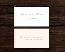Calligraphy Style Business Card Template Aspen