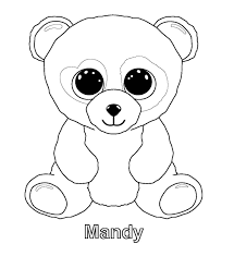 Ty Beanie Boos Coloring Pages Kids Stuff Panda Coloring Pages