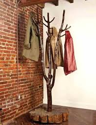 Rustic Coat Rack Tree Inspiration Rustic Standing Coat Rack Tree Standing Coat Rack Wooden Rustic