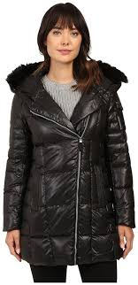 andrew marc marc new york by jillian 32 laquer puffer faux fur coat coat