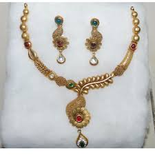 Gold Jadtar Set Design Wholesaler Of Jadtar Necklace Jewelxy 27785