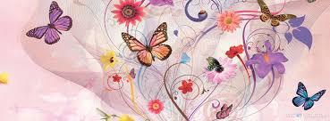 spring erflies facebook timeline cover