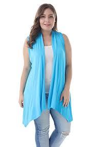 Zerdocean Size Chart Zerdocean Womens Plus Size Sleeveless Asymetric Hem Open Front Lightweight Soft Printed Drape Cardigan Sky Blue 2x