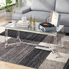 Acrylic coffee table cheap Adair Acrylic Farmingdale Coffee Table 1stopbedrooms Acrylic Coffee Tables Youll Love Wayfair