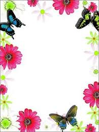Small Picture Lace Purple Flower Border Purple Transparent Frame with Bow