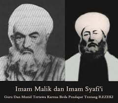 Hasil gambar untuk gambar imam maliki dan imam syafii