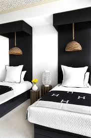 modern twin bed. Concuss Welcoming Decorating Ideas For People You Care : Special Flourishes In A Guest Room Modern Twin Bed