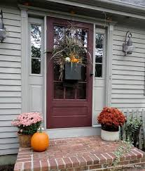 fall front door decorationsWonderful Front Door Ideas 67 Cute And Inviting Fall Front Door