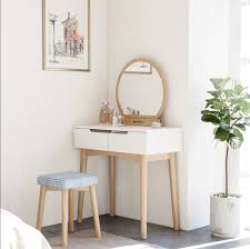 Modern Dressing Table Designs India Songmics Vanity Table Set With Round Mirror 2 Large