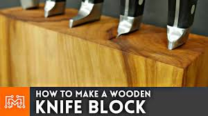 how to make a knife block that can hold your cookbook woodworking