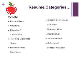 2 Resume Categories