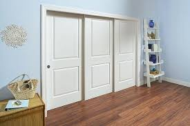 sliding closet door track mirrored