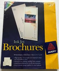 Avery Tri Fold Brochure Templates Avery Tri Fold Brochures For Inkjet Printers 8 1 2 X 11 White