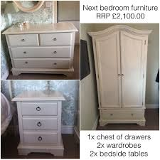 Next Cream Bedroom Furniture Next Shabby Chic Cream Ivory Bedroom Furniture Set Rrp 210000