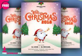 Christmas Flyer Templates Free Merry Christmas Flyer 2018 Freedownloadpsd Com