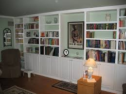 ... Premade Built In Bookshelves Floor To Ceiling Bookcase Kits Premade  Built In Bookshelves ...