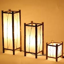 LED Chinese Style Vintage Lamp Bamboo Light Indoor Lighting Home Decorative  Design Lantern E27 Japanese Bamboo Floor Lamp Hotel-in Floor Lamps from  Lights ...